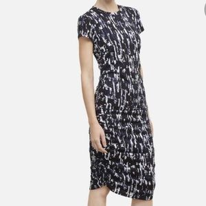 Kenneth Cole ruched side t shirt dress M